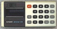 1976: Casio Personal Mini