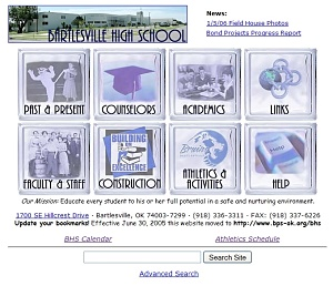 BHS Website in 2004-2005