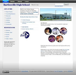 BHS Website for 2009