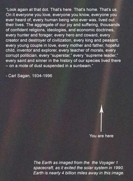 Carl Sagan Little Blue Dot quote