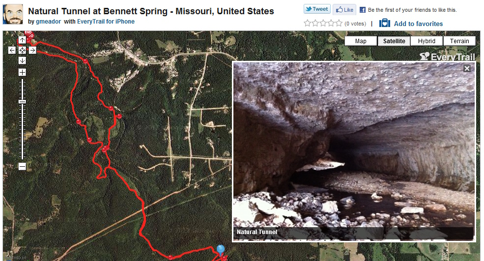 Natural Tunnel in Bennett Spring Hollow | MEADOR ORG