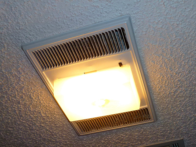 Mr fix it heats up the bathroom meador the nutone h965 ceiling lightexhaustheater aloadofball