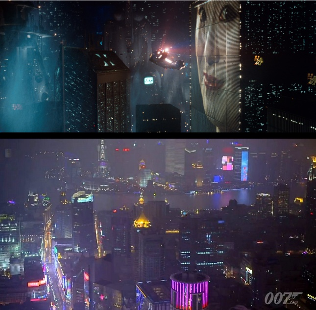 Blade Runner's Los Angeles has appeared 6500 miles to the west