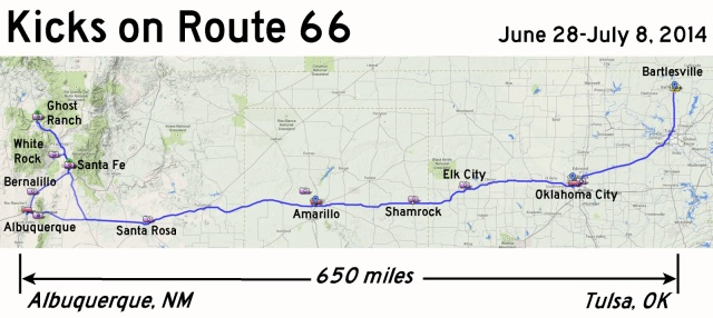 Route 66 Trip Map