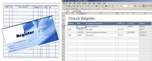 Analog vs. digital checkbook registers