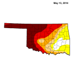 Oklahoma Drought Map, 5/14/2014