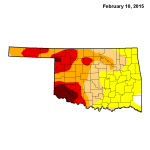 Oklahoma Drought Map, 2/5/2015