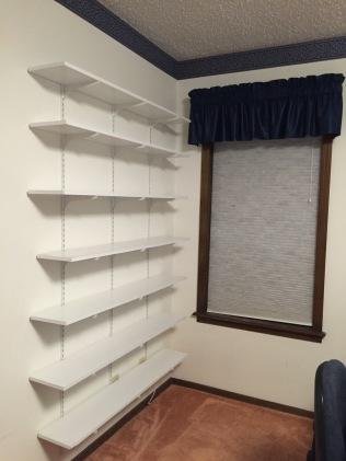 Empty scifi shelves