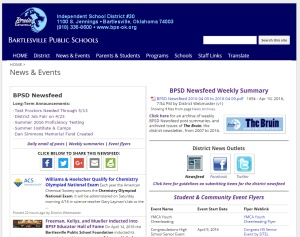 District newsfeed