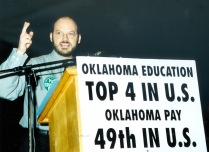 District rally back in 2000; pay has always been a problem for Oklahoma teachers