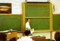 Teaching in my old classroom back in 1991
