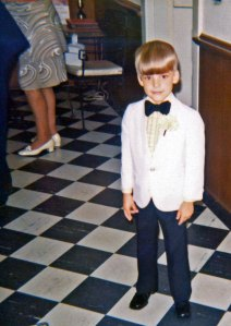 At age six, I was a ring bearer at a wedding