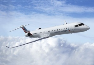 Our first flight was on one of American's Bombardier CRJ900s