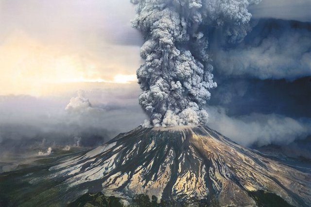 Mt. St. Helens erupted in 1980